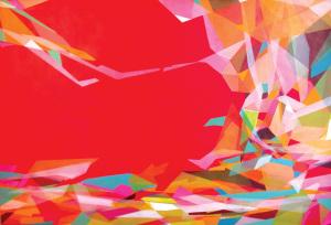"""""""Herzstück"""" Pigmente auf Leinwand 2014, 120x140 cm"""