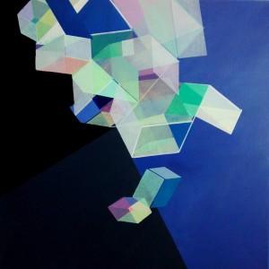 """""""Unter Tage"""", Acryl auf Leinen, 50x50 cm"""