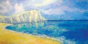 """""""Stille"""", Acryl auf Leinen, 70x140 cm"""